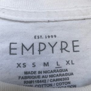 Empyre Tops - Long sleeve white crop top